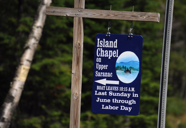 Island Chapel sign, 2014.