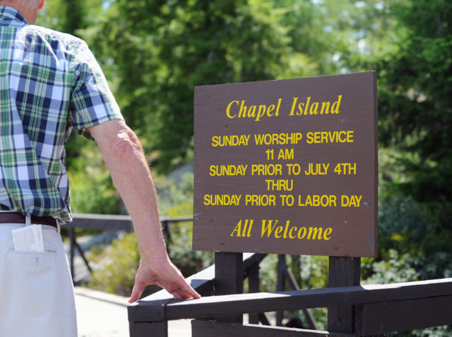 Island Chapel services are offered from the Sunday prior to July 4th through the Sunday prior to Labor Day. 2014.