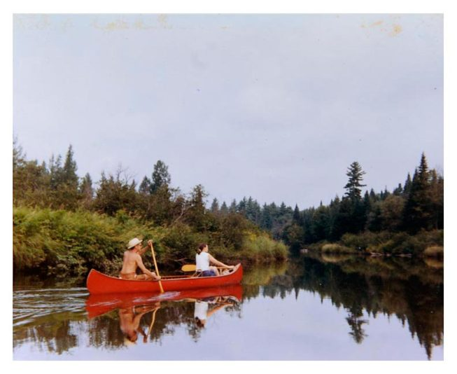 Beulah and Frank White paddling at Sylman Falls, 1971. Photographer unknown.