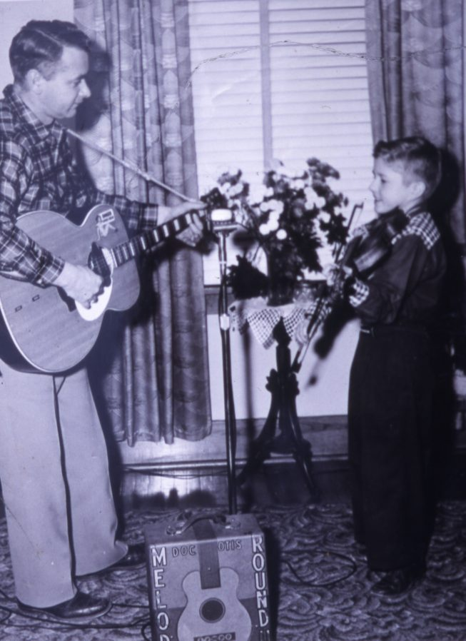 The Perkins Family Band at a past performance. Date and photographer unknown.