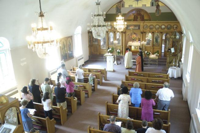 St. Vasilios Greek Orthodox Church service, Watertown, NY.