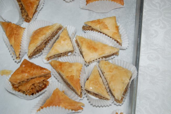 Baklava made for the Pastry Sale.
