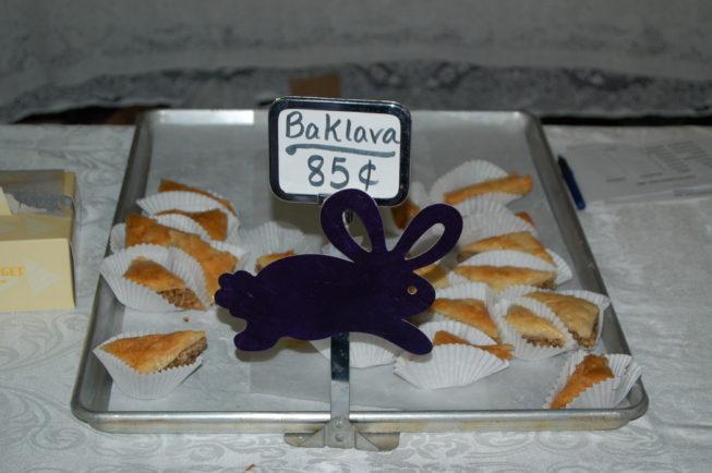 Baklava for sale.
