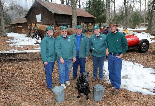 The Haskell Yancey Jr. Family, traditional maple producers, Croghan, NY, 2010.