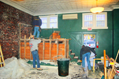 Continental Construction crew  demolished the former J.J. Newberry's manager's office and some other interior features to prepare the main floor for renovations.